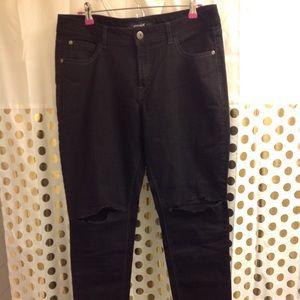 Jordache Skinny Ripped Jeans Black 16